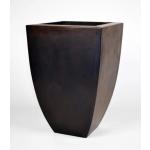 "24"" Legacy Tall Square Concrete Urn Planter - Dark Walnut"