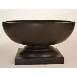 Lyon Concrete Fire Bowl - Dark Walnut