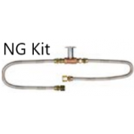 Natural Gas Fire Kit (2 Whistle Free Flex Lines with Key Valve & Key)