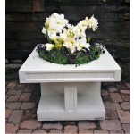 "24"" Oak Park Studio Vase Top View - Limestone"