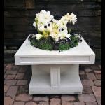 "24"" Oak Park Studio Vase Top View - Limestone"