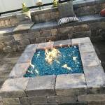 "1/2"" Pacific Blue Fire Glass in fire pit"