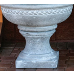 Concrete Fire Bowl Roman - Gray with White Wash