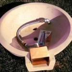 Custom Copper Scupper Spillway Kit with Epoxy and Hose