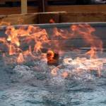 Example of Fire ON Water