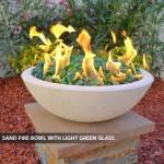 Concrete Fire Bowl Sand w/ Green