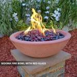 Concrete Fire Bowl Sedona w/ Red