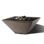 "Slick Rock Concrete 22"" x 22"" Conical Fire Bowl - Gray"