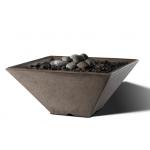 "Slick Rock Concrete 22"" x 22"" Conical Fire Bowl - Gray"