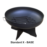 "36"" Steel Wood Fire Pit - X-Base"