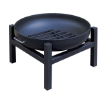 "36"" Steel Wood Fire Pit - 4-LEG Base Square"