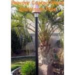 "82"" Aluminium Powder Coated Black Tiki Torch Pole w/ Mounting Base"