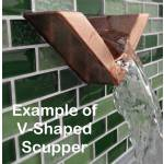 V Shaped Pool Scupper Example