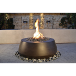 "42"" Vegas Fire Bowl - Dark Walnut - TABLE STYLE"
