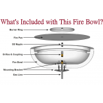 Everything in Picture is Included with This Fire Bowl