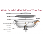 Everything that is Included with this Fire and Water Feature