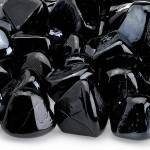 Onyx Black Zircon Fire Glass Close