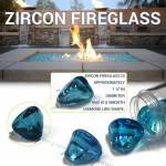 Zircon Fire Glass Size Example