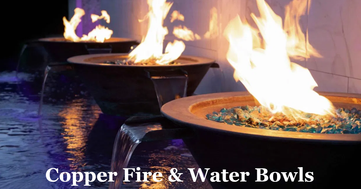 Copper Fire and Water Bowls