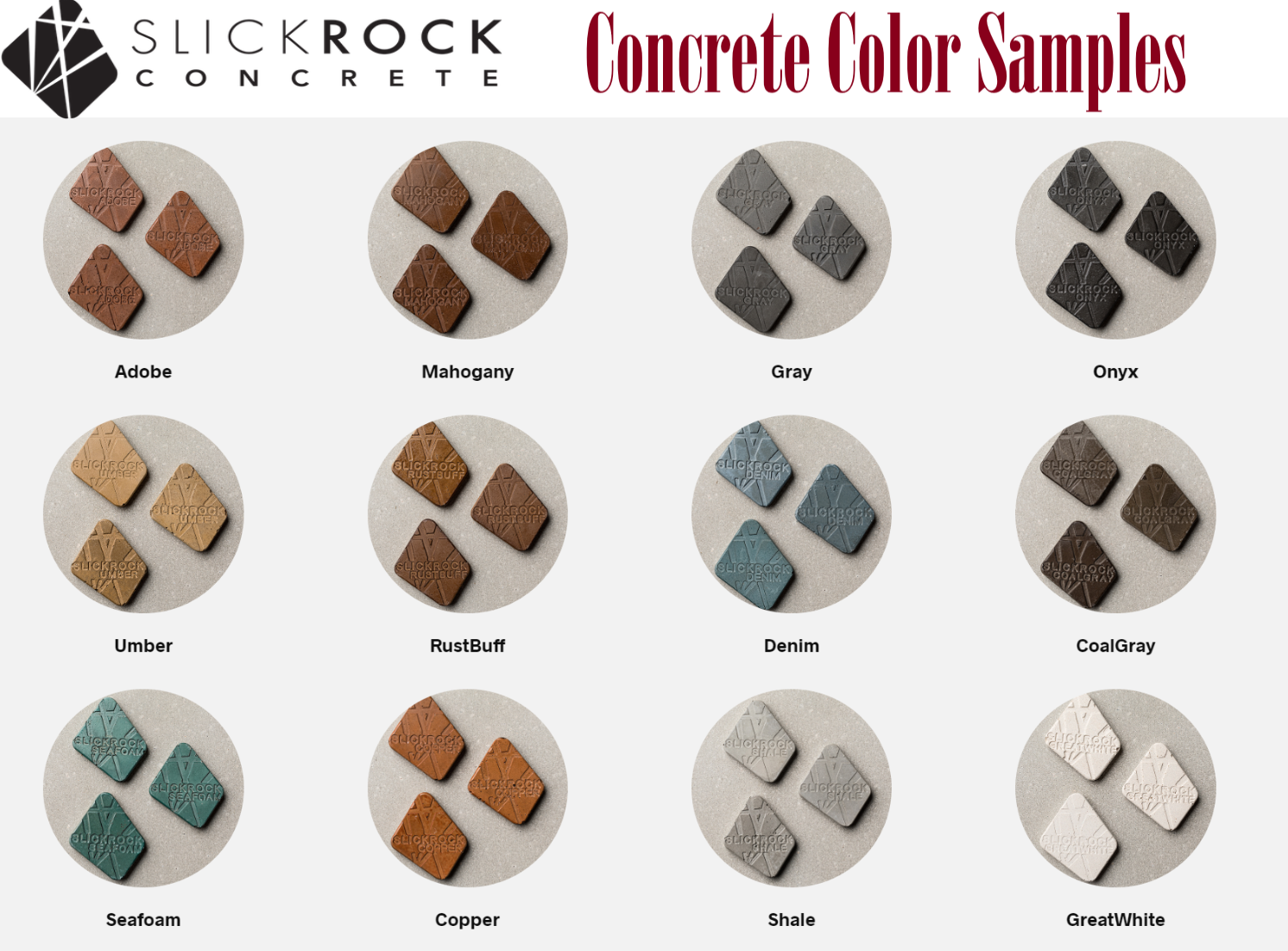 Slick Rock Concrete Fire Bowl Colors