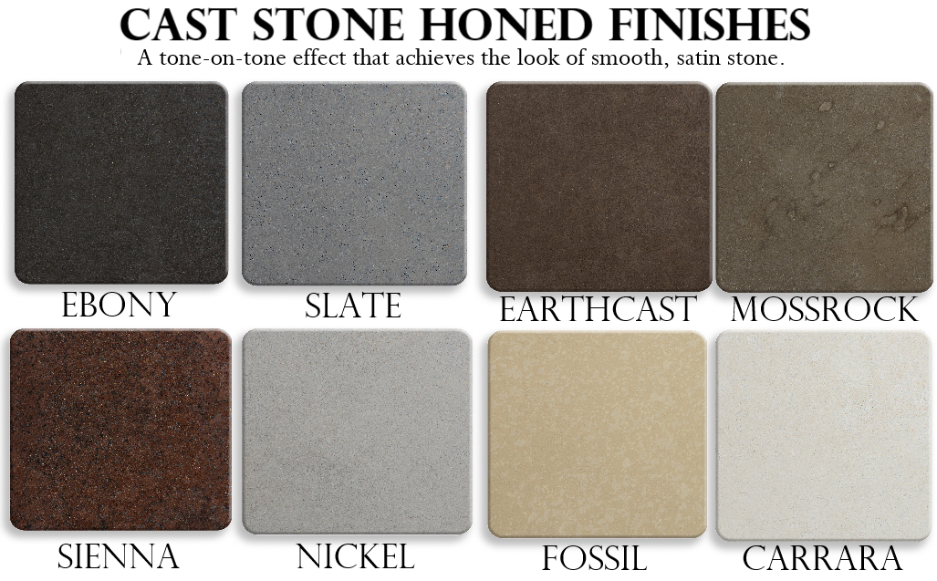 Pebble Tec Cast Stone - Honed Finishes