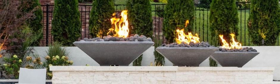 Pebble Tec Concrete Fire Bowls - Cone