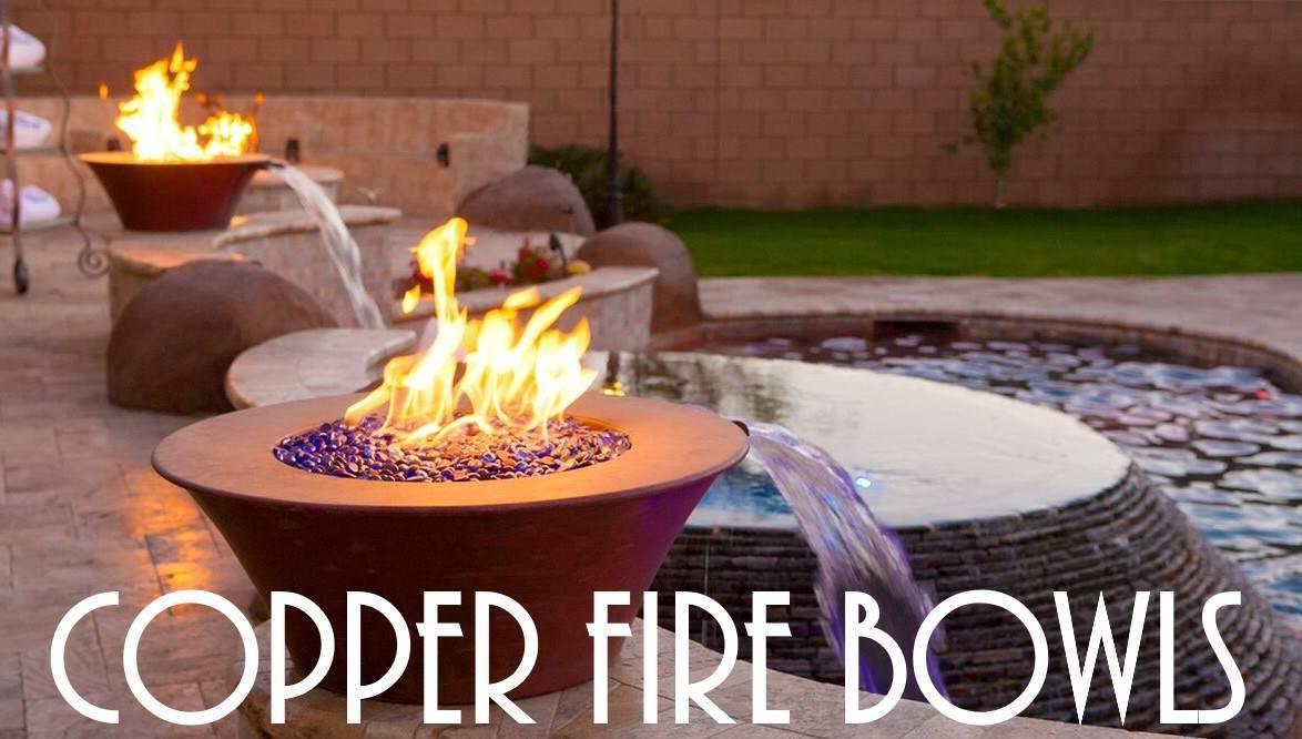 Copper Fire Bowls