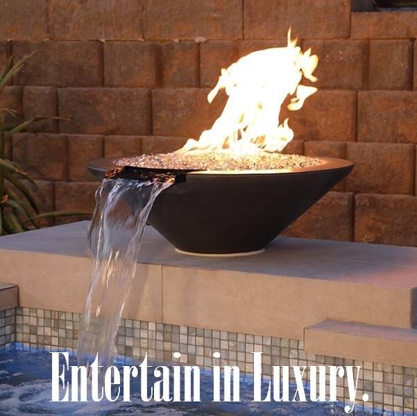 Pool Fire Bowl Entertain in Luxury