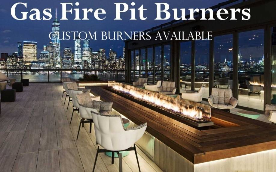 Custom 30' Gas Fire Pit Burner - RoofTop at Exchange Place, New Jersey