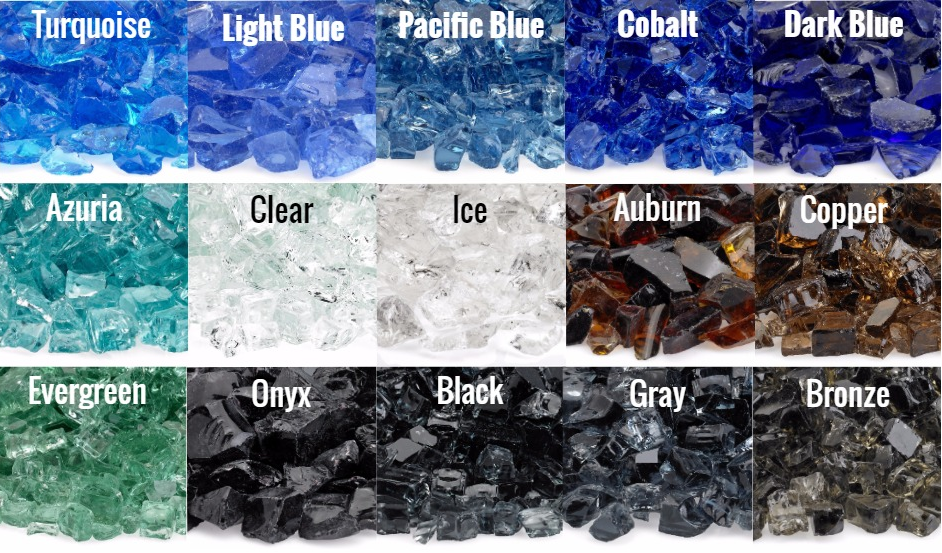 Fire Glass Color Selection