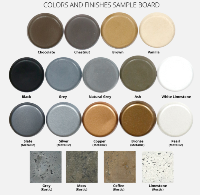 NEW! Concrete GFRC Color Samples