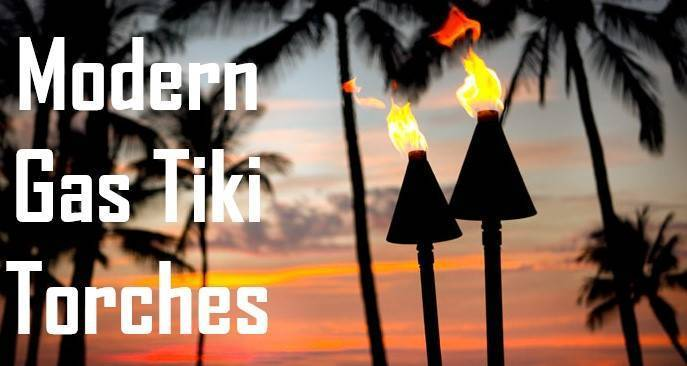 Gas Tiki Torches Sunset