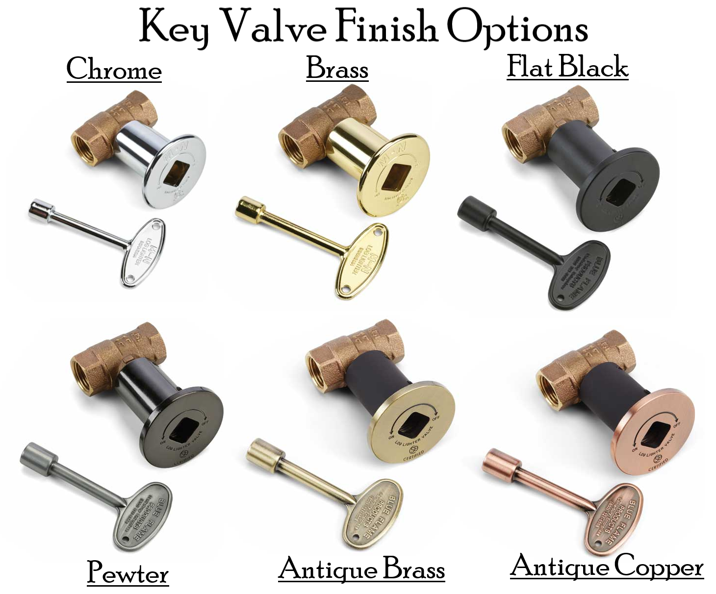 Key Valve Finishes