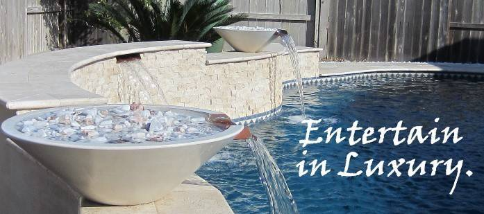 Pool Fire Bowl Entertain in Luxury