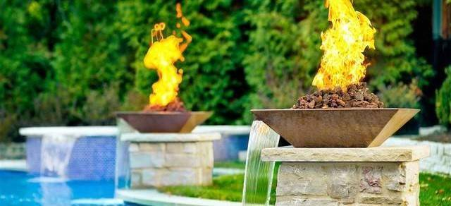 Pool Fire Bowls