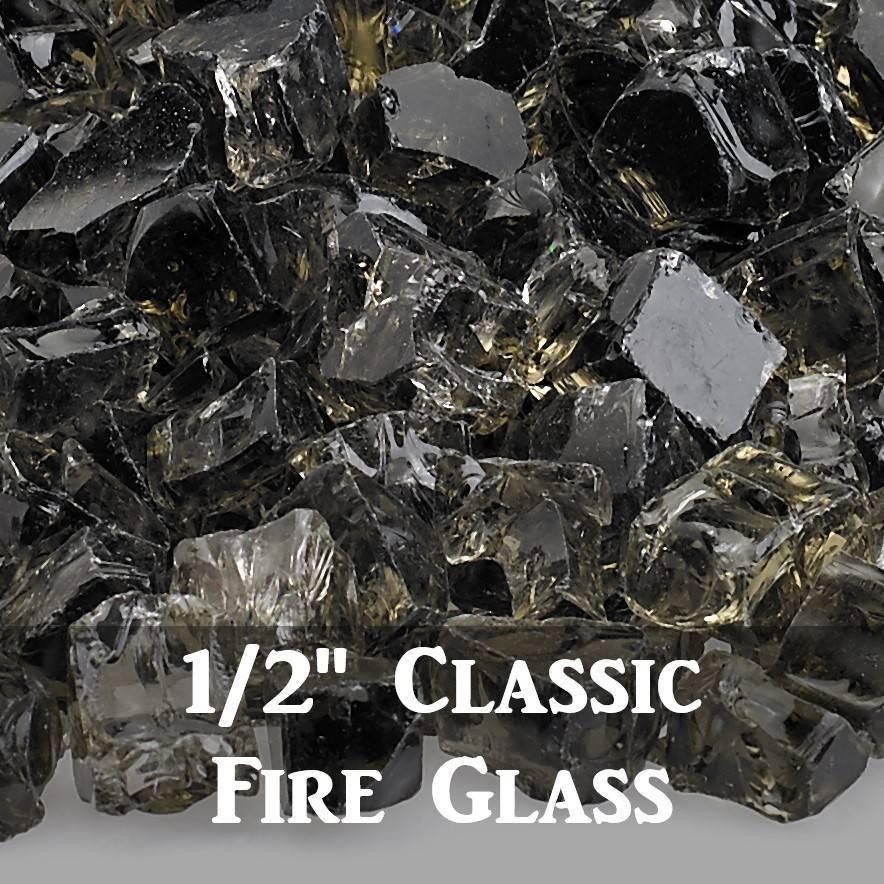 """1/2"""" Classic Fire Glass"""
