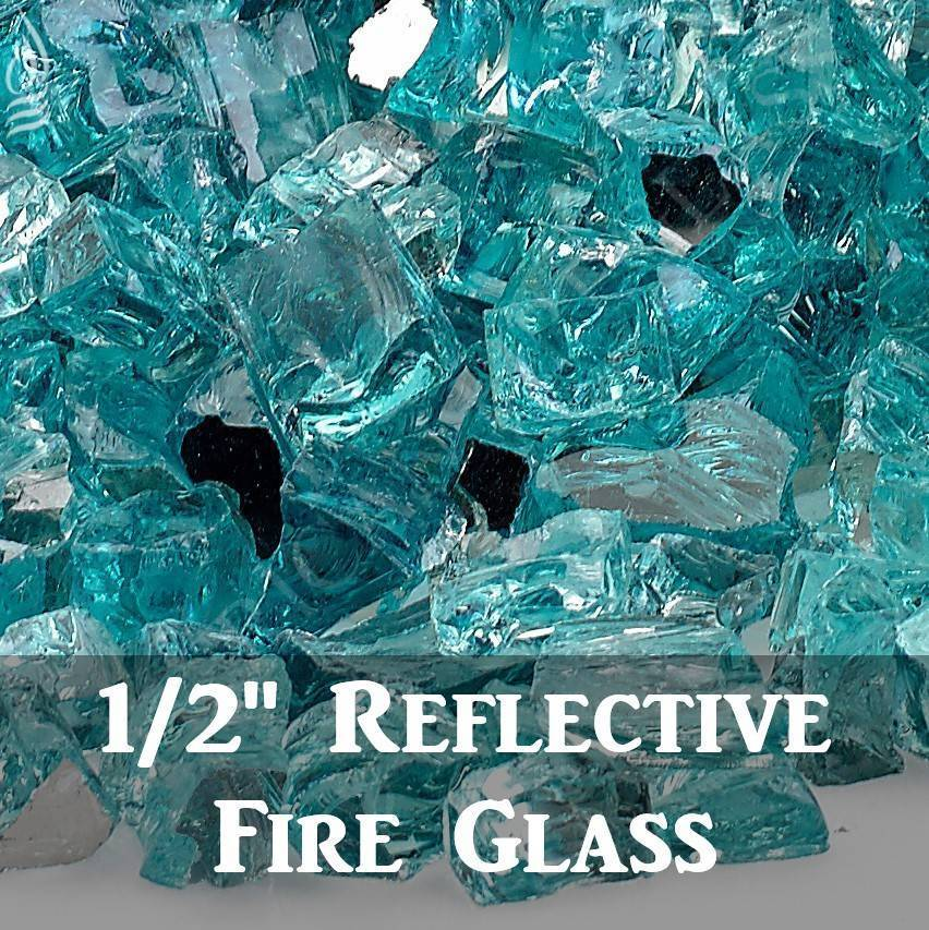 "1/2"" Reflective Fire Glass"