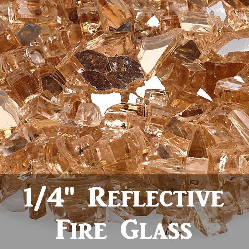 "1/4"" Reflective Fire Glass"