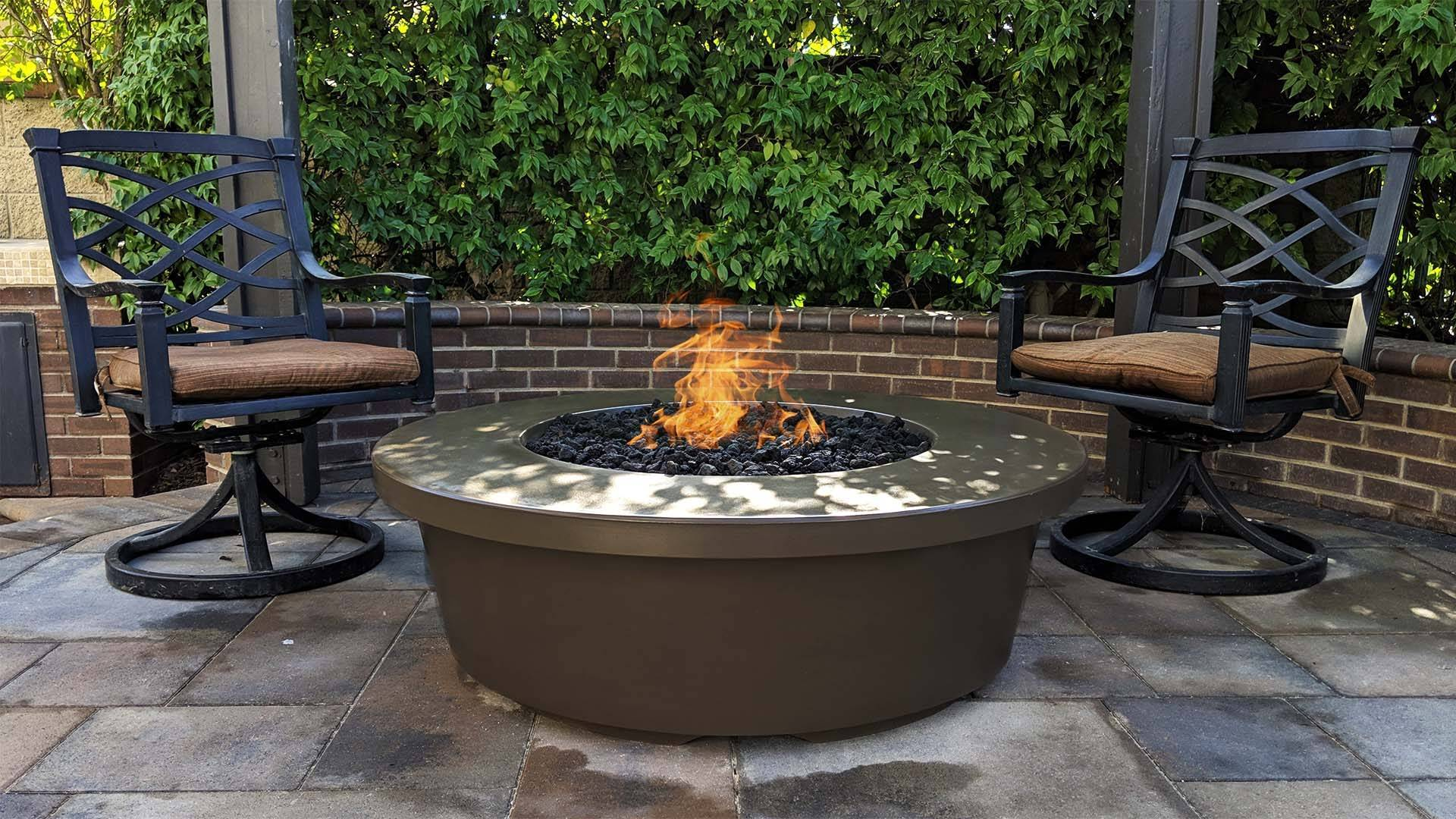 """54"""" Tempe Concrete Fire Table - Brown"""