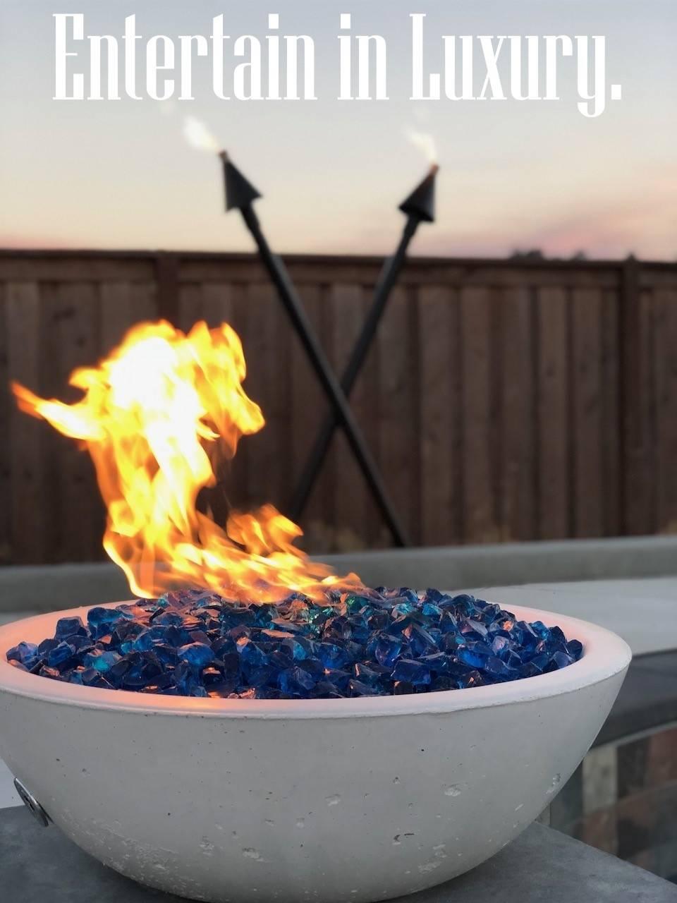 Gas Fire Bowl - Entertain in Luxury.